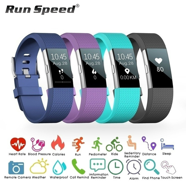 S18 Smart Watch Waterproof Sports Heart Rate Blood Pressure Monitor Fitness Tracker Smart Wristband
