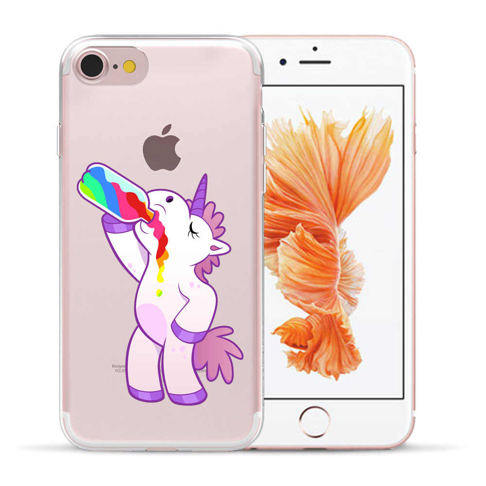 I m Unicorn As You Wish Soft TPU Case For Coque iPhone 5 5S SE 6 q50