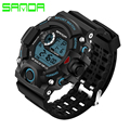 New SANDA Style Digital Watch Men Military Army Watch Water Resistant Date Calendar LED Sports Watches relogio masculino 326
