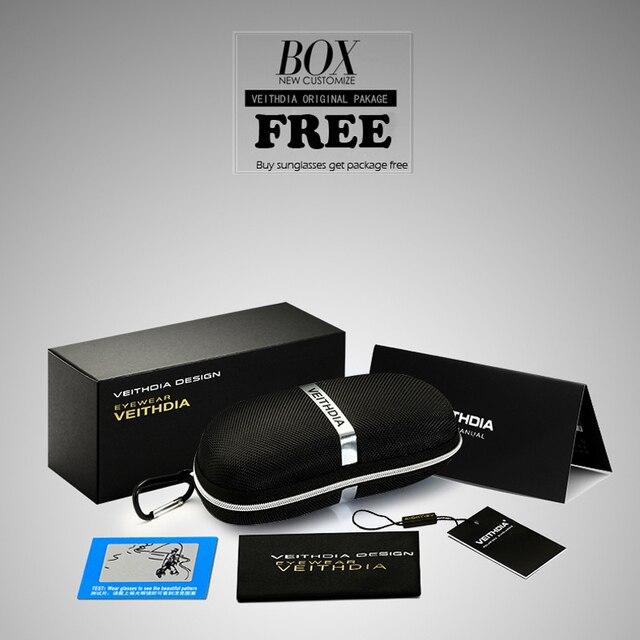 VEITHDIA-Gafas de sol cuadradas para hombres/mujeres, lentes polarizadas vintage de marca, UV400, accesorios, V2462 6