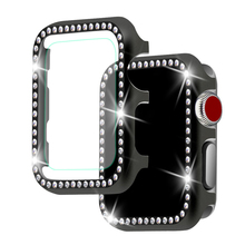 CRESTED Diamond case +glass For Apple watch 4  3 apple band 42mm/38mm iwatch 44mm/40mm Crystal protective shell