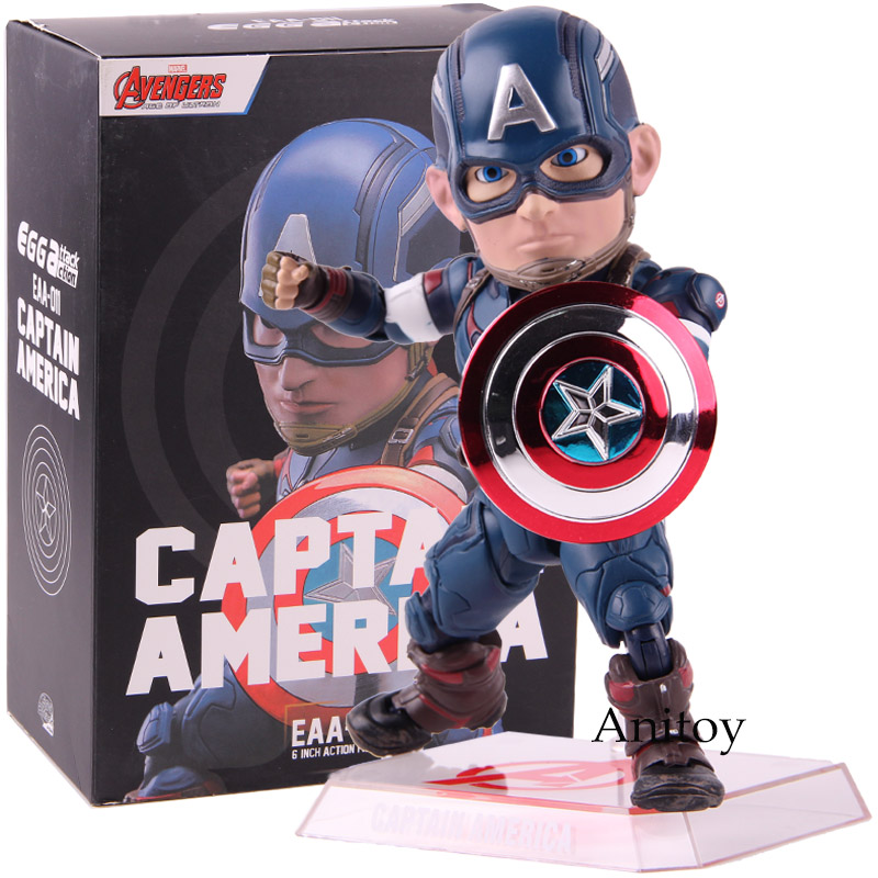 Avengers Age of Ultron Egg Attack Action Marvel Captain America Figure EAA-011 6 Inch Action Figure Beast Kingdom PVC Model Toy avengers age of ultron captain america pvc action figure collectible model toy 9 23cm