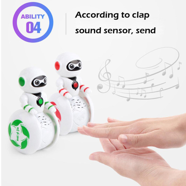Mini Electronic  Smart Bot Robot Astronaut Kids Music Lightening  Light Toys 2018 Brusting Christmas Gifts