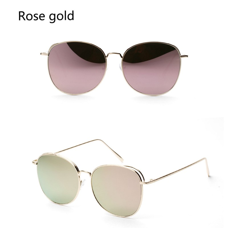 2017 Women Colorful Designer Personality Metal Thin Sun Glasses Girl Round Toad Shades Street Style Eyewear