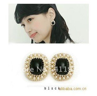 Free shipping,black pearl women jewelry earring ,Wholesale,Jewelry
