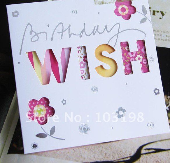 Wholesale Latest Beautiful Birthday Cards Christmas Cards 100pcslot