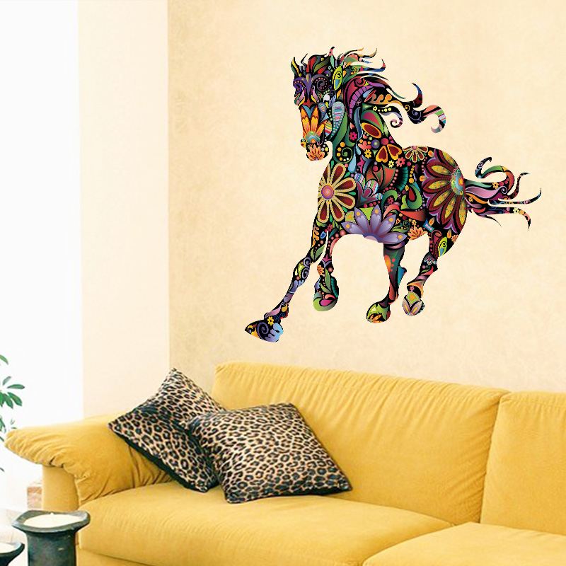 Online get cheap horse wall stickers for Cheap wall mural decals