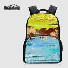 Dispalang 3D Печать на холсте Bookbags для Средняя школа студентов Для женщин Путешествия Сумки на плечо подростков рюкзак для ноутбука bagpack обновления