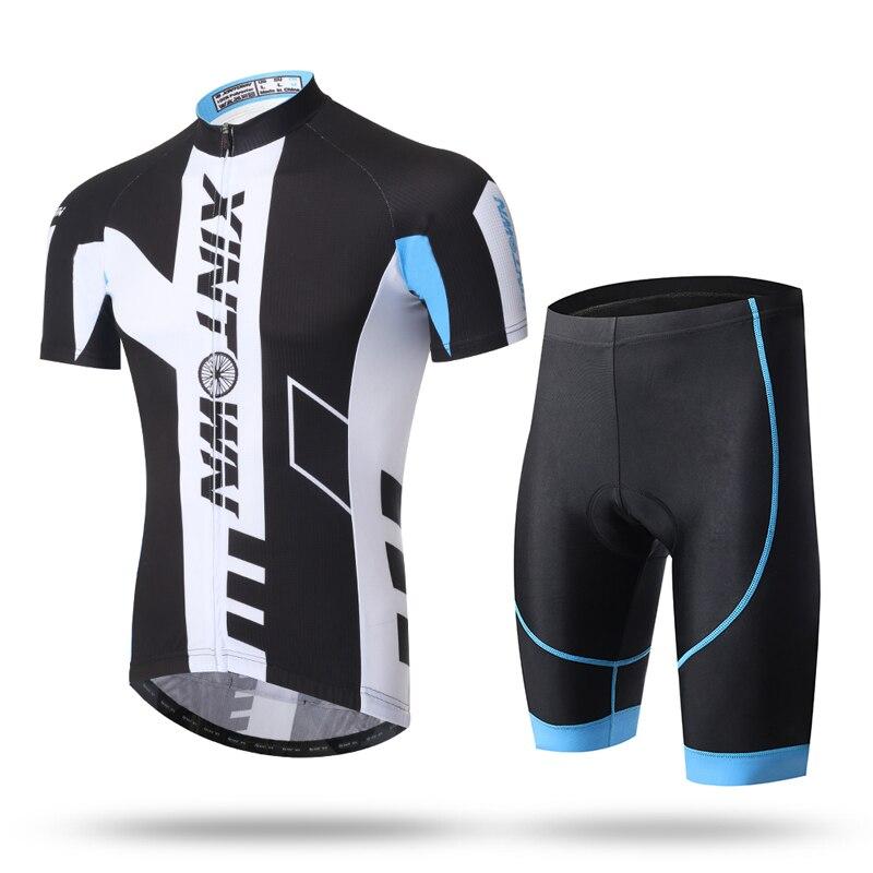 Купить с кэшбэком Mens Cycling Short Sleeve Jersey Bib Sets Bike Wear  Men's Summer Breathable Bicycle Clothes Sportswear Quick Dry
