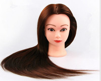100 Natural Hair Training Head Professional Hair Styling Head Hairdressing Dolls Head Female Mannequin Hairdressing