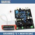 Новый AK4490EQ * 2 + AK4118 мягкая управления цап аудиодекодер доска, Бесплатная доставка