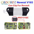 Full Chip For Renault Can Clip V165 OBD2 Diagnostic Tool With 15 Languages Can Clip For Renault Full Chip PCB AN2131QC