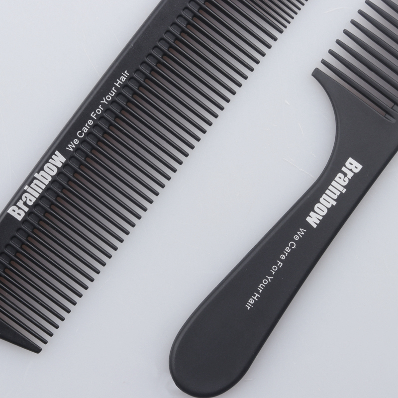 Brainbow 2pc Hair Comb Anti-statisk Carbon Hair Brush Professional - Hårpleje og styling - Foto 3