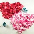 Comercio al por mayor de La Boda Pétalos de Rosa 1000 unids/lote Decoraciones flores de seda Rayón poliéster boda de rose de La Nueva Manera 2016 artificial