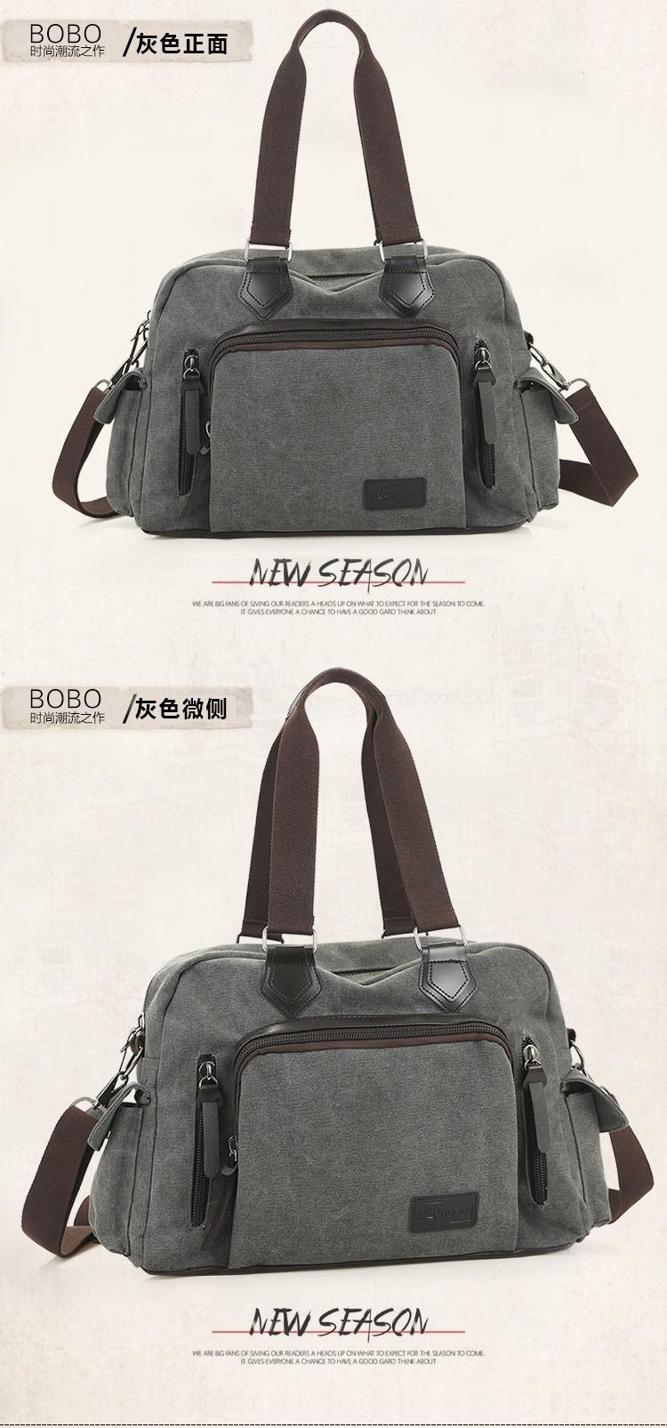 2016 men\'s travel bag canvas men messenger bag brand men\'s bag vintage style briefcase,Travel Shoulder bag (16)