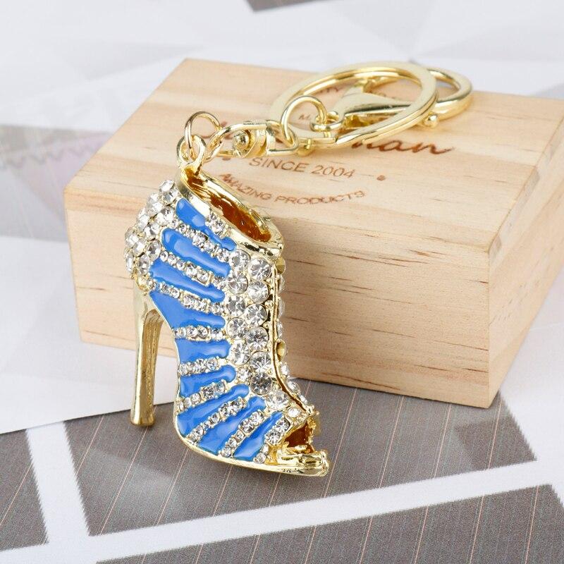 Mqchun Горячие 3D шик высокий каблук Обувь со стразами брелок очарование Для женщин сумки брелок девушка мешокs Jewelry Рождественский подарок- 50