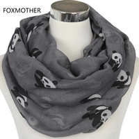 Free Shipping 2015 New Fashion Cute Grey Green Tan Panda Animal Infinity Scarf Scarves For Women