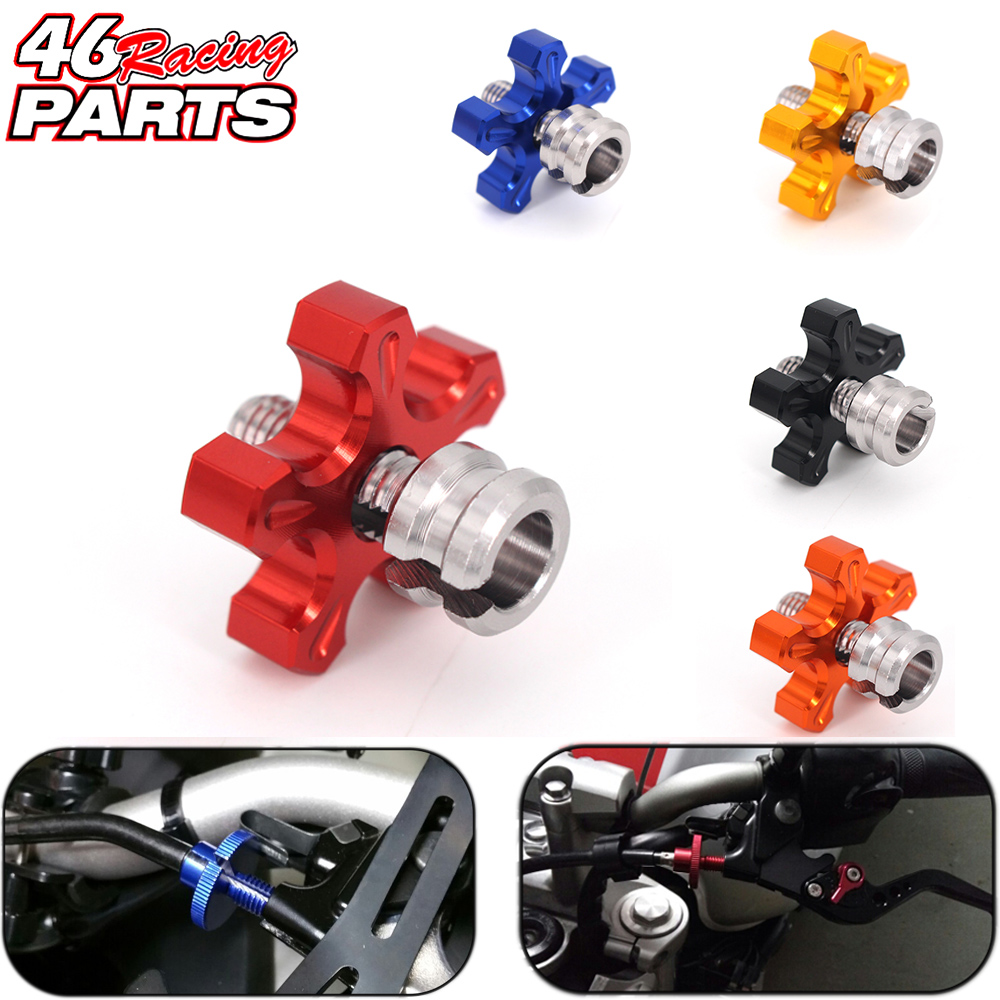 CNC M8 Motorcycle Clutch Cable Wire Adjuster For HONDA Cbr650f Vfr800 NC700 NC750 CB 600 Hornet XR250 Cb500f Accessories motorcycle accessories throttle line cable wire for honda cbr250 cbr 250 cbr19 mc19