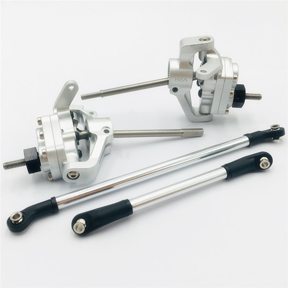 Metal Portal Axle Upgrades knuckle Lockout for Axial SCX10-ll 1/10 RC Crawler Car Parts Stainless Steel Front Rear Axle ShaftMetal Portal Axle Upgrades knuckle Lockout for Axial SCX10-ll 1/10 RC Crawler Car Parts Stainless Steel Front Rear Axle Shaft