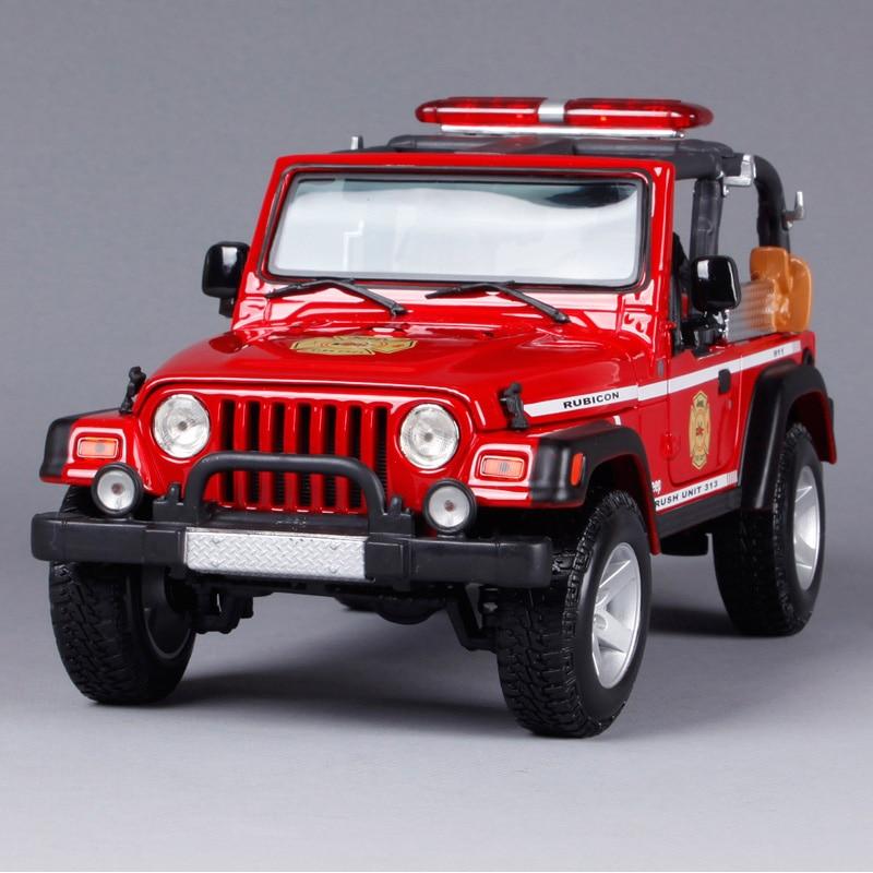 Maisto 1:18 JEEP Wrangler Rubicon(BRUSH FIRE UNIT) SUV Car Diecast Model Car Toy New In Box Free Shipping 36155 1 18 scale jeep wrangler rubicon diecast metal car suv model maisto 31663 blue
