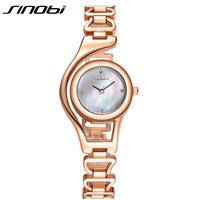 Original SINOBI Bracelet Gold Watches For Women Crystal Diamond Top Brand Woman Watches Elegant Waterproof Montre