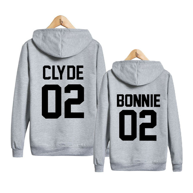 Bonnie And Clyde Unisex Couples Matching Hooded Sweatshirts Ejo8X