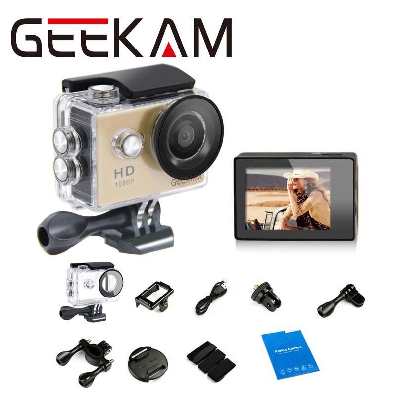 Original GEEKAM A9 Action camera 1080P 15fps 720P HD sport cameras cam deportivas pro waterproof go