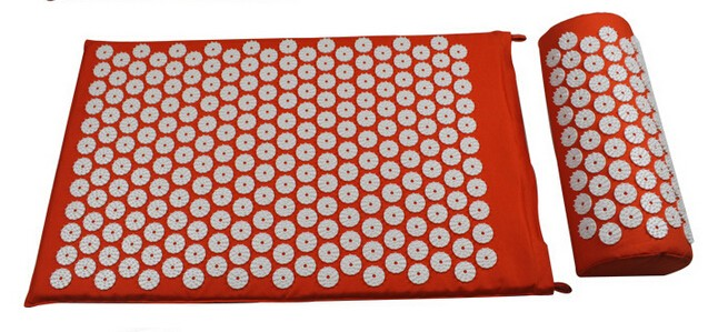 Massager cushion Acupressure Mat Relieve Stress Pain Acupuncture Spike Yoga Mat with Pillow 3 Color Optional Drop shipping povihome 1set massage cushion acupressure therapy mat relieve stress pain relief acupuncture spike yoga mat with pillow d06874