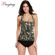 Camouflage Print Two-Piece Tankini