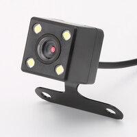 4 Lâmpadas Led Reversa Câmera Night Vision HD CDD Retrovisor Lente Camara 2.5mm Jack com Cabo 6 metros para o Carro Espelho Dvr Gravadores|rear view camara|camera reversing night|camera rear night -
