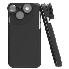 4 En 1 lente Gran Angular Ojo de Pez Macro Teleobjetivo 360 Grados de Rotación Kit de Lente de la cámara Cubierta de la Caja Para el iphone 7 7 Plus Para Apple teléfonos