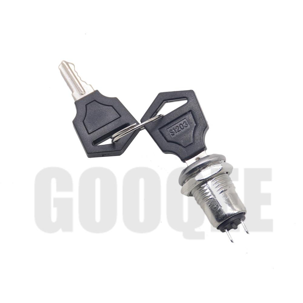 12mm Çinko Alaşımlı Elektronik Anahtar Anahtarı KAPALı Kilit Anahtarı Telefon Kilidi Güvenlik Güç Anahtarı Boru Terminalleri + 2 tuşları 2 Pozisyon