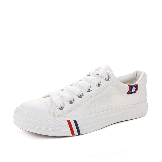 Students Canvas Shoes Women Casual Shoes Fashion Lace Up Single Shoes Solid Color Women Flats For All Season B2713