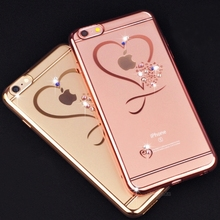 Için iphone X Çapa Altın Kaplama Glitter Için Elmas Lüks Kılıf iphone 6 6 S 7 7 artı 8 8 artı 5.5 Ince Kristal Açık Aşk Yumuşak ...