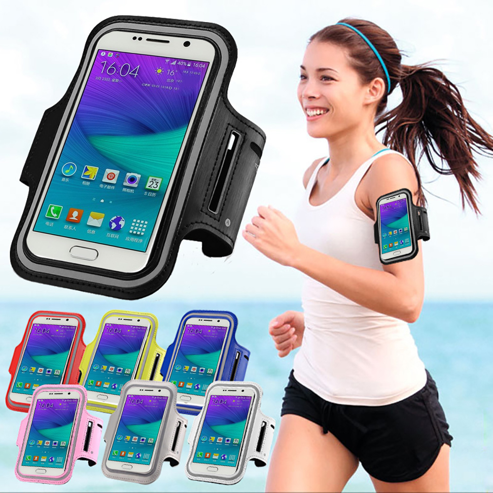 Sport Arm Band Belt Cover For SAMSUNG Galaxy S3/S4/S5/ S5 Mini/S6/ S6 Edge/On5 Waterproof Running Gym Bag Phone Case Key Holder