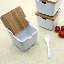 NHM kitchen spice rack ceramic seasoning jar pot salt and pepper sugar spice shakers container Drop ship dropshipping
