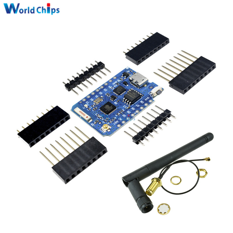 For WeMos D1 Mini Pro 16M Bytes <font><b>External</b></font> <font><b>Antenna</b></font> Connector <font><b>ESP8266</b></font> WIFI <font><b>ESP8266</b></font> WIFI Module Board Micro USB With <font><b>Antenna</b></font> image