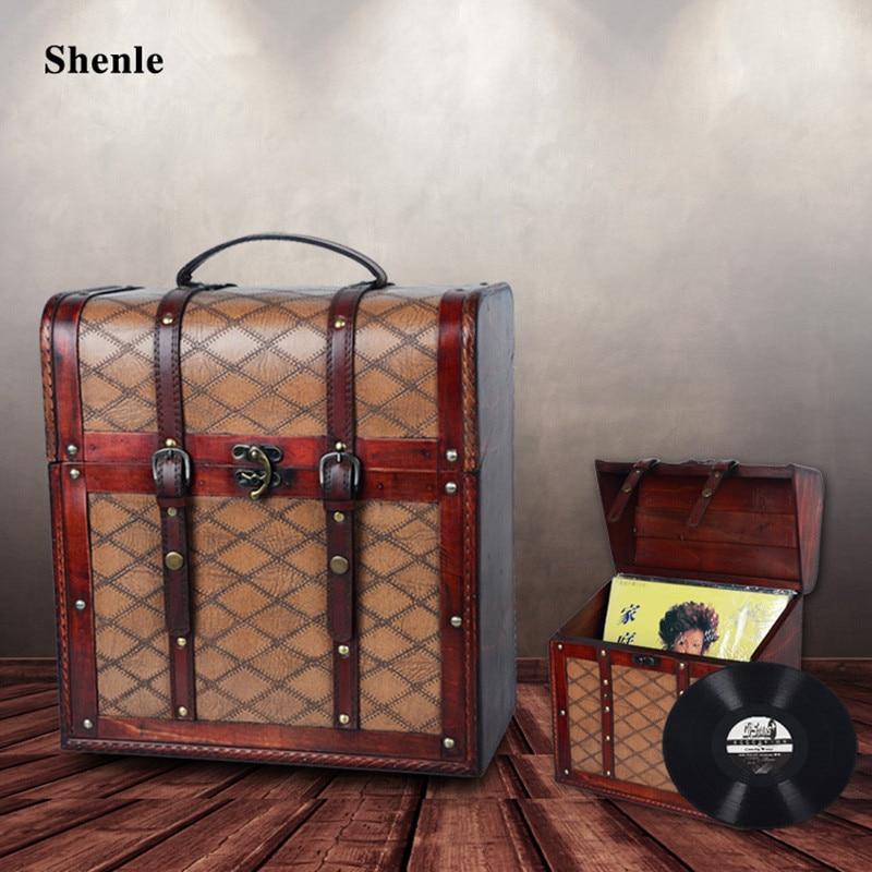 Retro Antique Nostalgic Pu Leather Finish Gramophone