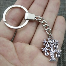 Women Jewelry Gift Key Chain New Vintage Metal Key Chains Antique Silver 29x22mm Money Tree Charm Key Rings women jewelry gift key chain new vintage metal key chains antique silver 52x52mm big hollow carved heart charm key rings