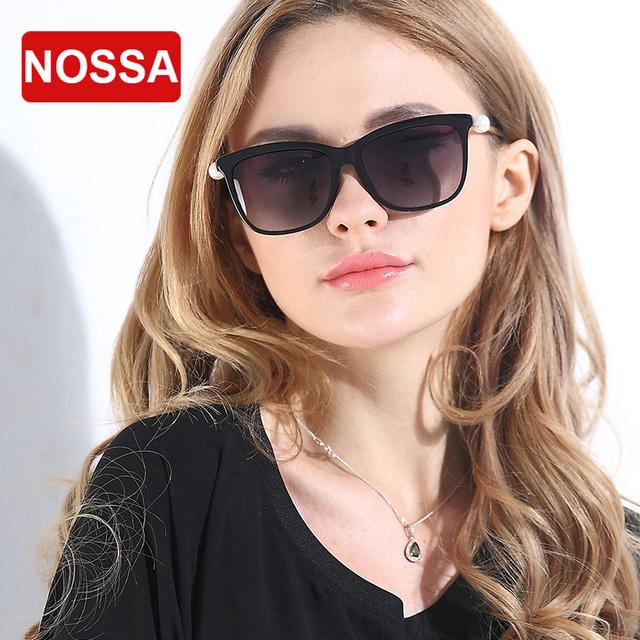 NOSSA Grande Marco de Nuevo Diseño de la Mujer Mujer Piloto Gafas de Sol Gafas de Protección UV400 Gafas de Sol Polarizadas
