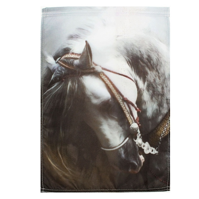 Beau Mini White Horse Garden Flag House Flags Banner Painting Outdoor Indoor  Decorative Fabric Painting Party Home