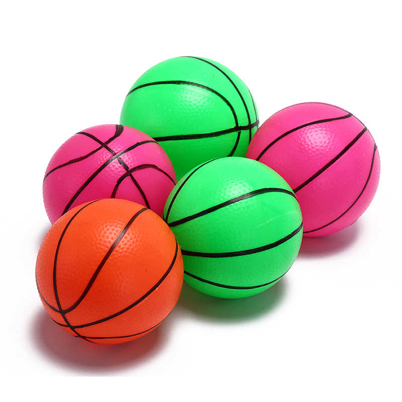 12cm Inflatable PVC Basketball volleyball beach ball Kid Adult sports Toy Random Color 1 PCS