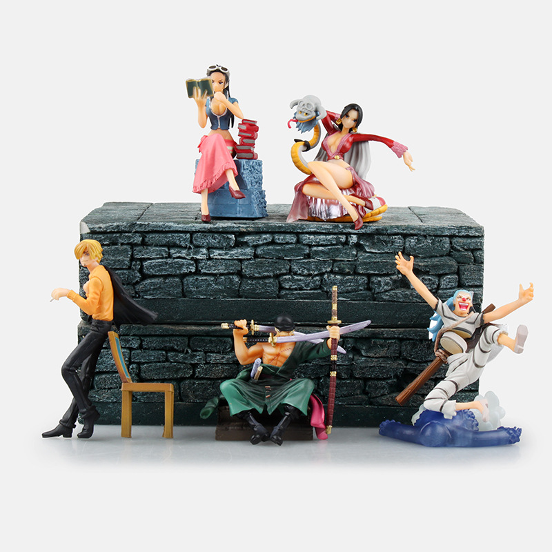 One Piece Chapter story Boa Hancock  Vinsmoke Sanji Roronoa Zoro Nico Robin Buggy PVC Action Figure Collectible Model Toy 7-10cm brand new portrait of pirates one piece roronoa zoro 23cm pvc cool cartoon action figure model toy for gift kids free shipping