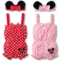 Minnie Baby Body suits Hair Bands for girls suits Toddler Rompers Shortalls Sleeveless baby girl romper clothes