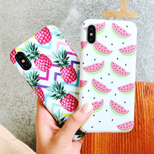 Get more info on the Pineapple Pattern Case for iPhone XR 6 8 7 Plus 6s X Soft Shell Cover Bumper Fruit Skins