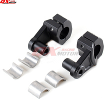 Universal Motorcycle Handlebar Risers Adjustable 22mm 28mm Fat Bar Clamps for Honda Kawasaki Ducati Yamaha