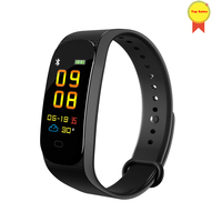 Original Smart Wristband Fitness Bracelet Touch color Screen Message Heart Rate Time Smartband for ios android vs Mi m2 m3 f1