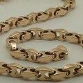 Variar la longitud 14 ''-40'' 9mm ancho hombres únicos diseño clásico chapado en oro rosa cadena de la bici hi-tech tungsteno collares y colgantes