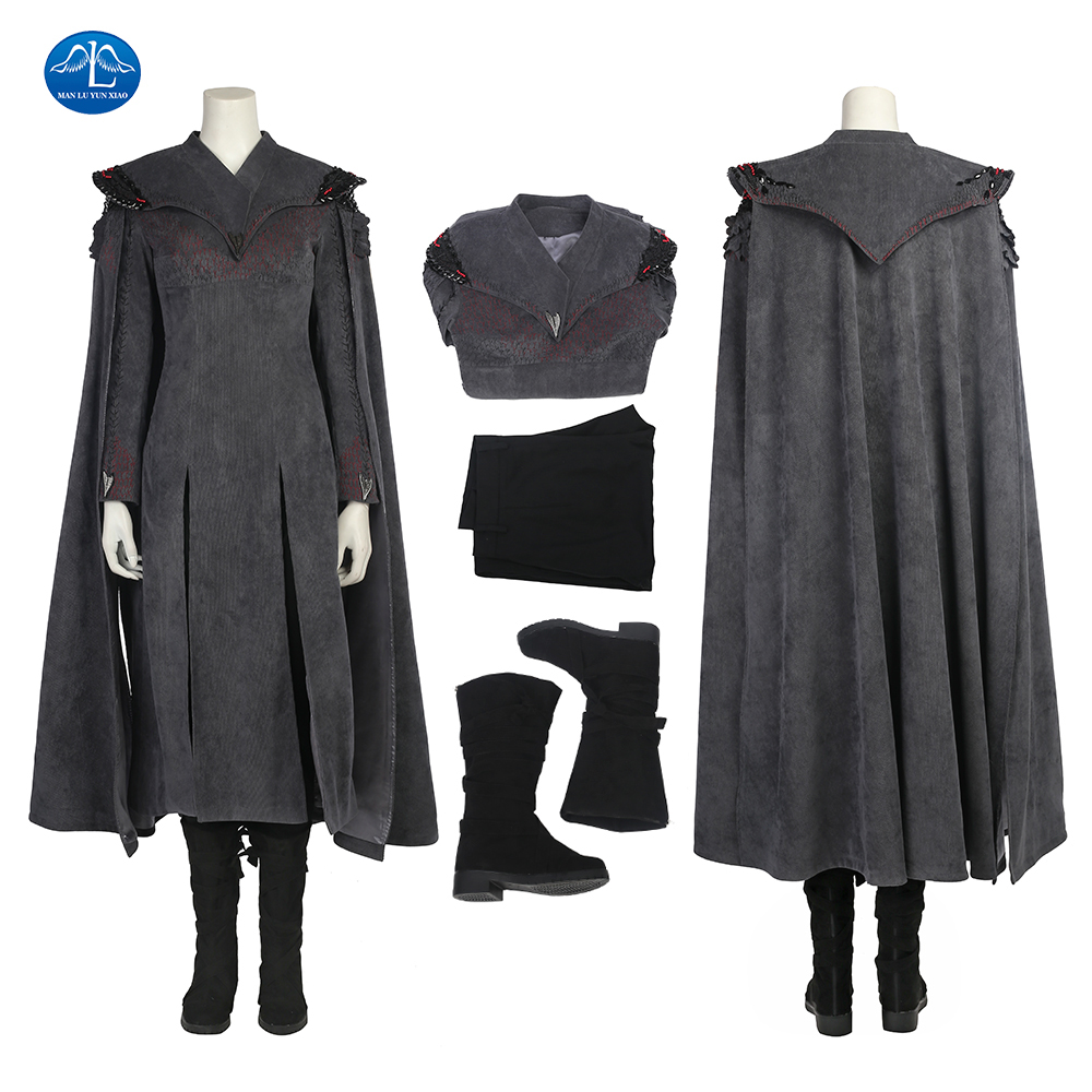 ManLuYunXiao Hot TV Shows Game of Thrones 7 Cosplay Costume Mother of Dragons Costume Halloween Costumes For Women Custom Made