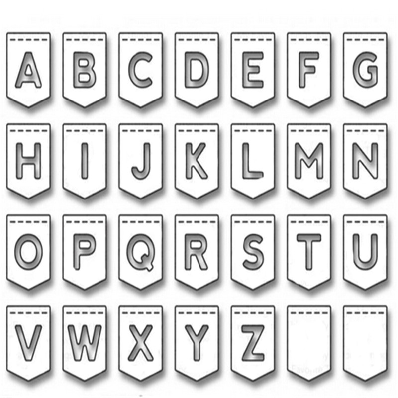 Alphabet Letter Metal Cutting Dies New 2018 Scrapbooking